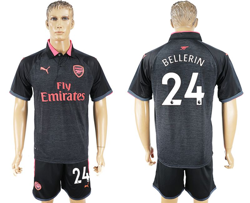 Men 2017-2018 club Arsenal second away 24 black soccer jersey