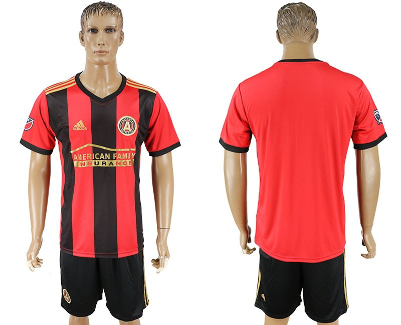Men 2017-2018 club Atlanta United home blank red soccer jersey