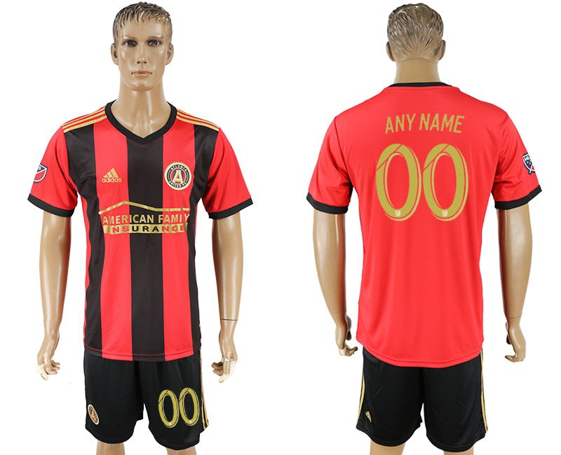 Men 2017-2018 club Atlanta United home customized red soccer jersey