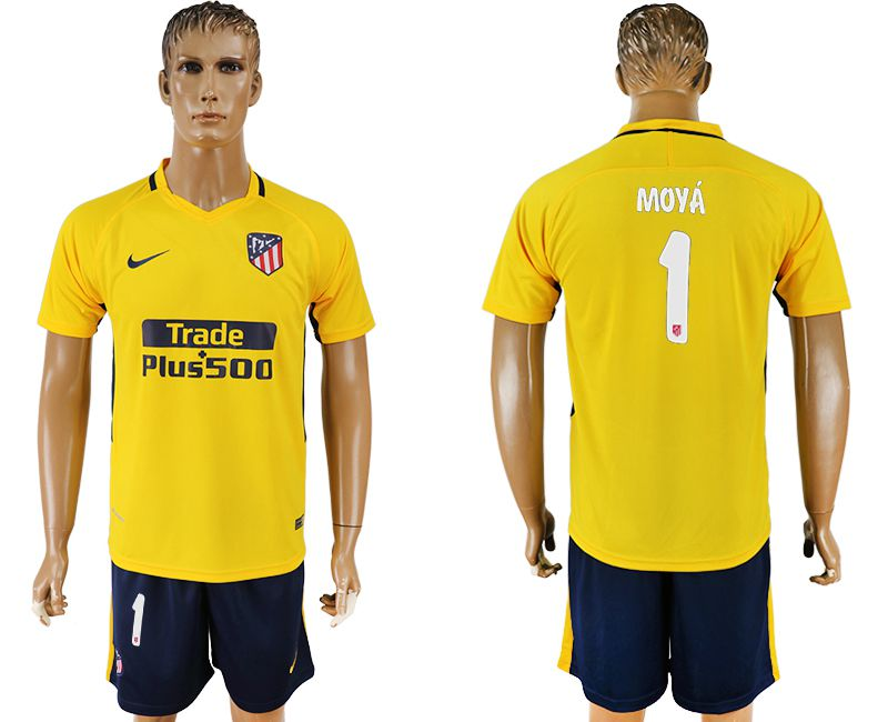 Men 2017-2018 club Atletico Madrid away 1 yellow soccer jersey