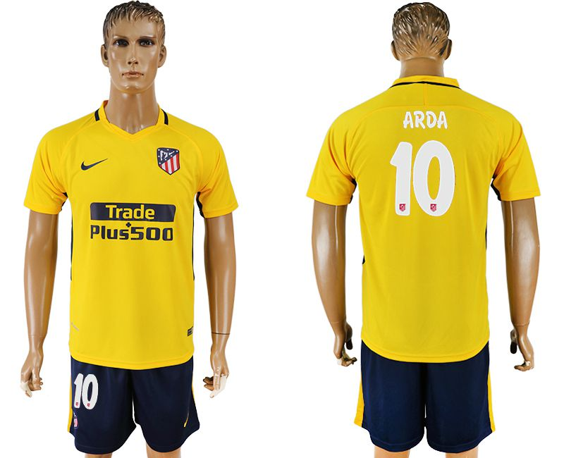 Men 2017-2018 club Atletico Madrid away 10 yellow soccer jersey1