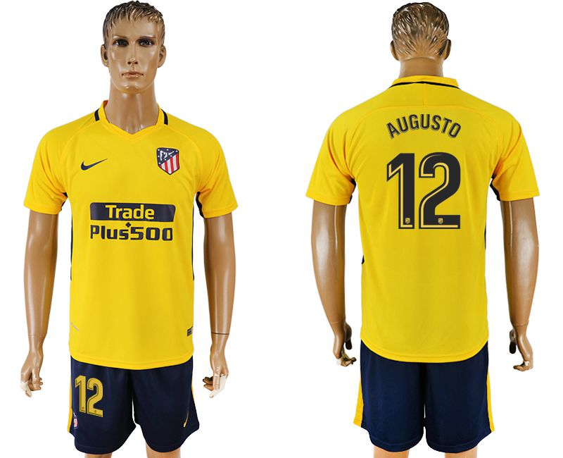 Men 2017-2018 club Atletico Madrid away 12 yellow soccer jersey1