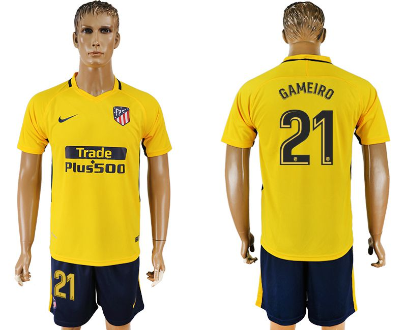 Men 2017-2018 club Atletico Madrid away 21 yellow soccer jersey1