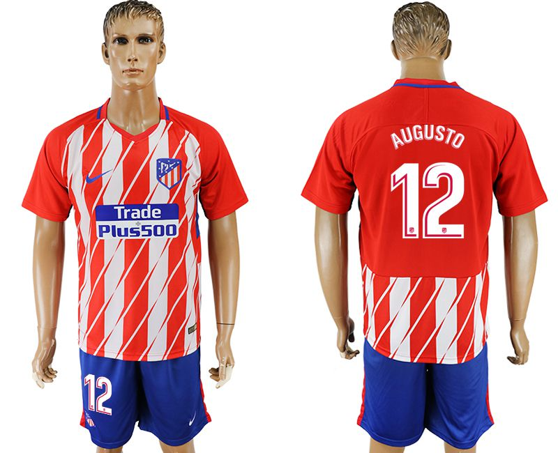 Men 2017-2018 club Atletico Madrid home 12 red soccer jersey