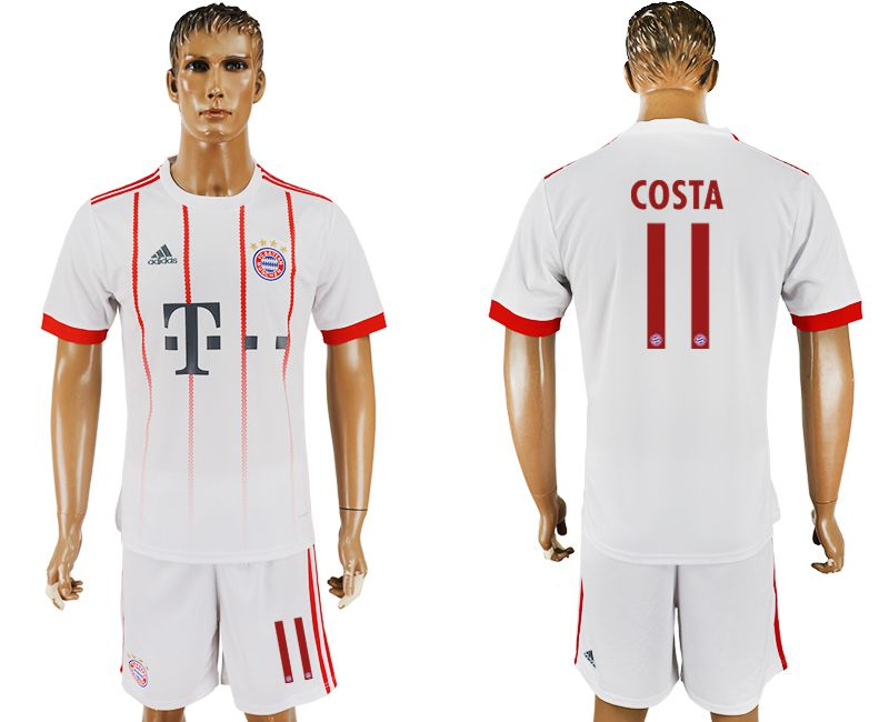 Men 2017-2018 club Bayern Munich second away 11 white soccer jersey