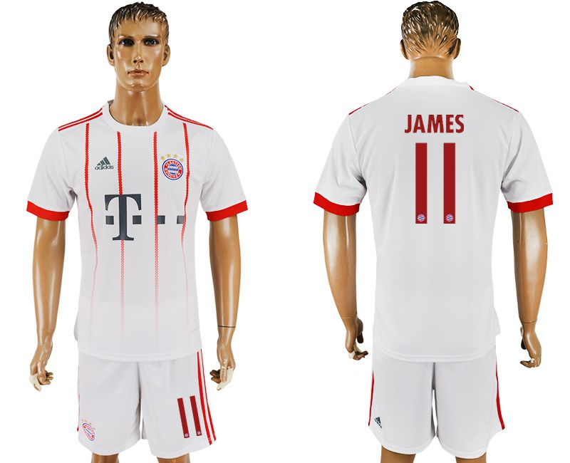 Men 2017-2018 club Bayern Munich second away 11 white soccer jersey1