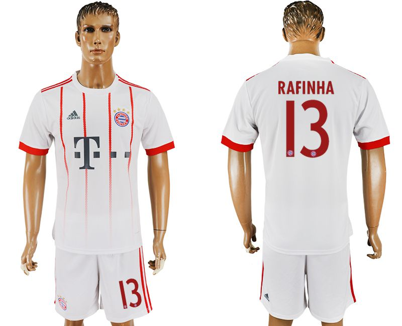 Men 2017-2018 club Bayern Munich second away 13 white soccer jersey