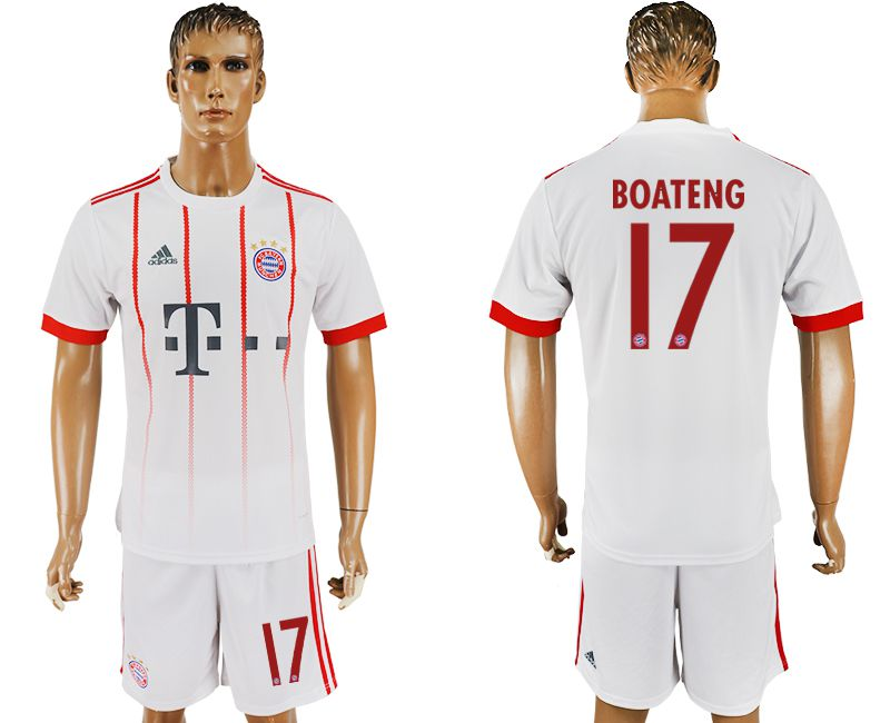 Men 2017-2018 club Bayern Munich second away 17 white soccer jersey