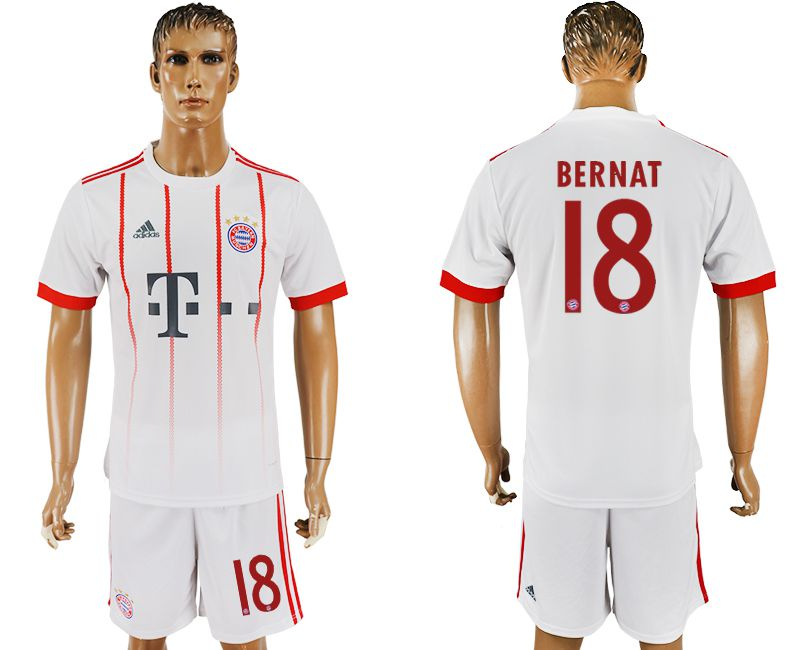 Men 2017-2018 club Bayern Munich second away 18 white soccer jersey