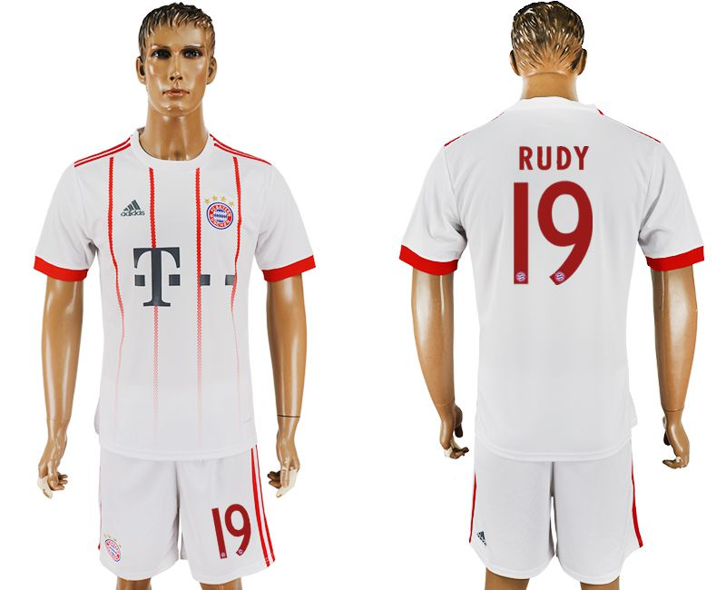 Men 2017-2018 club Bayern Munich second away 19 white soccer jersey