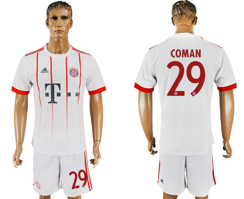 Men 2017-2018 club Bayern Munich second away 29 white soccer jersey