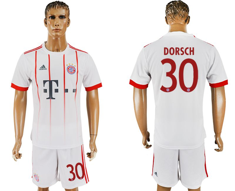 Men 2017-2018 club Bayern Munich second away 30 white soccer jersey