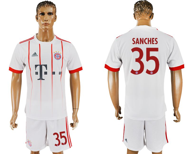 Men 2017-2018 club Bayern Munich second away 35 white soccer jersey