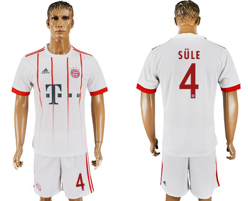 Men 2017-2018 club Bayern Munich second away 4 white soccer jersey