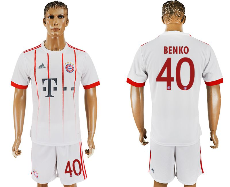 Men 2017-2018 club Bayern Munich second away 40 white soccer jersey