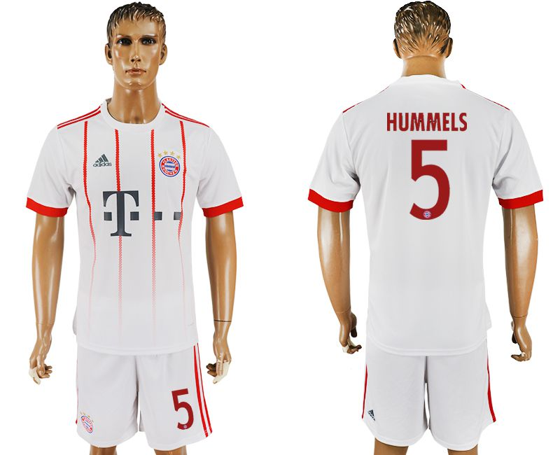 Men 2017-2018 club Bayern Munich second away 5 white soccer jersey