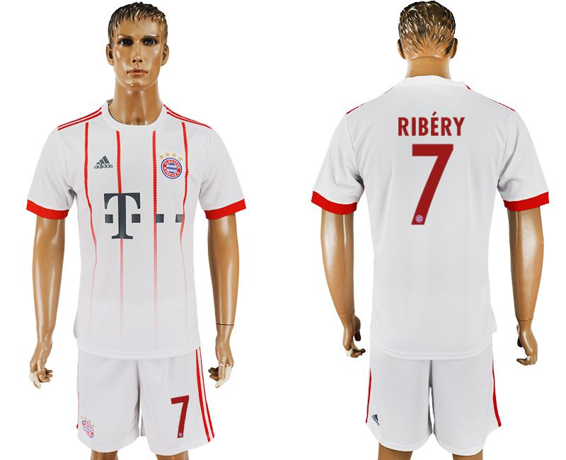 Men 2017-2018 club Bayern Munich second away 7 white soccer jersey