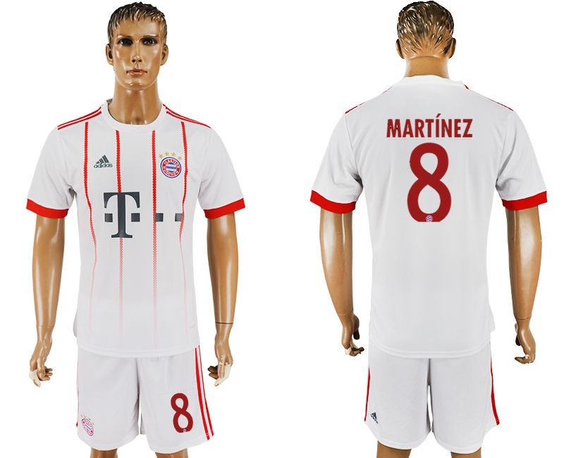 Men 2017-2018 club Bayern Munich second away 8 white soccer jersey
