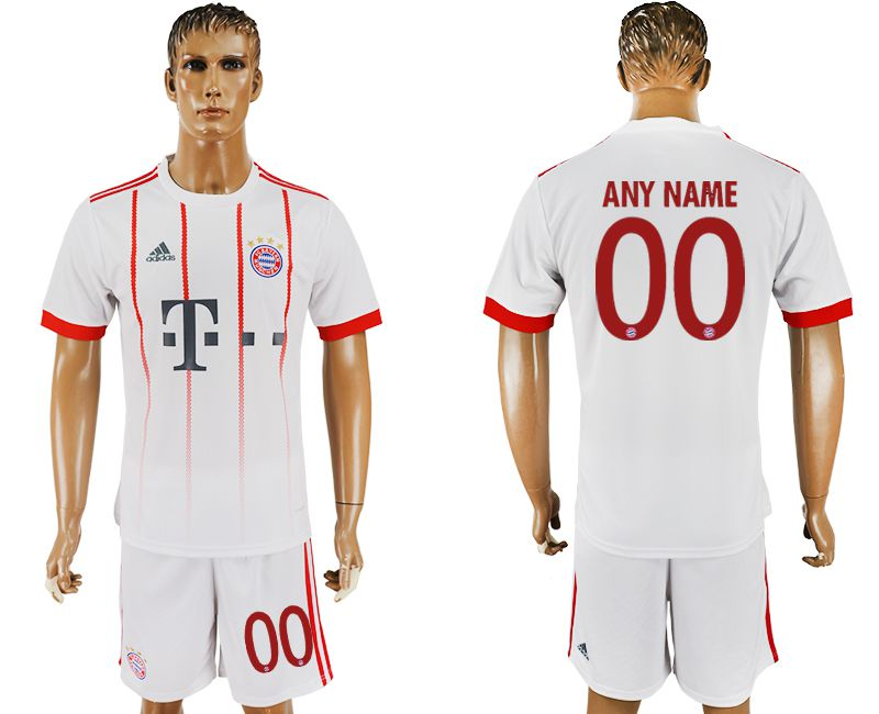 Men 2017-2018 club Bayern Munich second away customized white soccer jersey