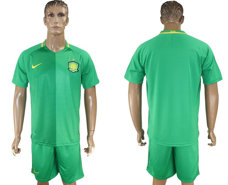Men 2017-2018 club Beijing Guoan blank green soccer jersey1