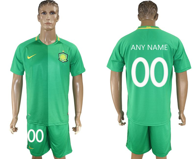 Men 2017-2018 club Beijing Guoan customized green soccer jersey