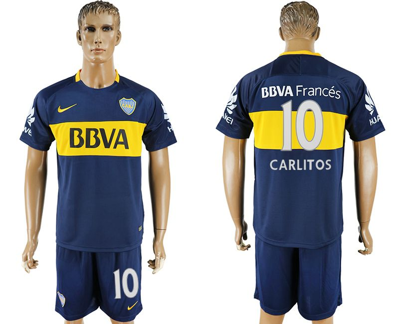 Men 2017-2018 club Boca Juniors home 10 blue soccer jersey