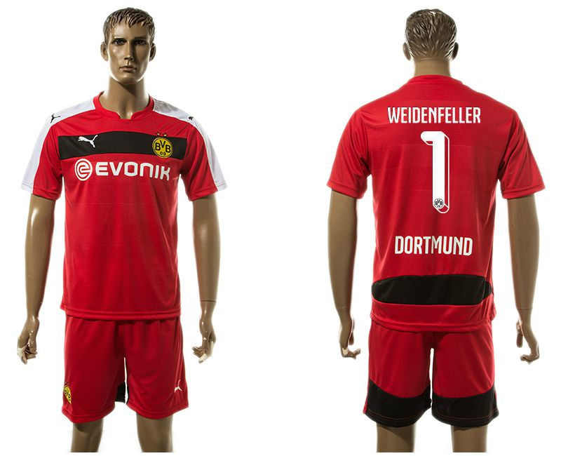 Men 2017-2018 club Dortmund goalkeeper 1 red soccer jersey
