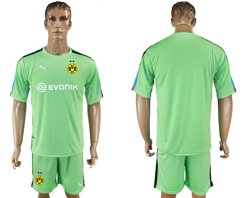 Men 2017-2018 club Dortmund goalkeeper blank green soccer jersey
