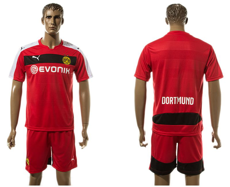 Men 2017-2018 club Dortmund goalkeeper blank red soccer jersey