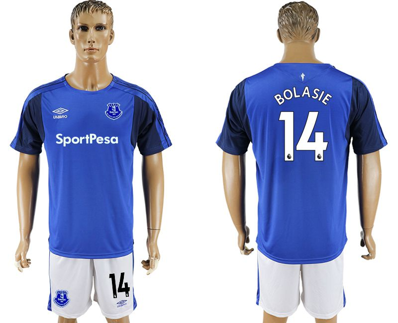 Men 2017-2018 club Everton FC home 14 blue soccer jersey