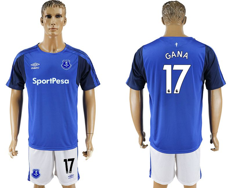Men 2017-2018 club Everton FC home 17 blue soccer jersey