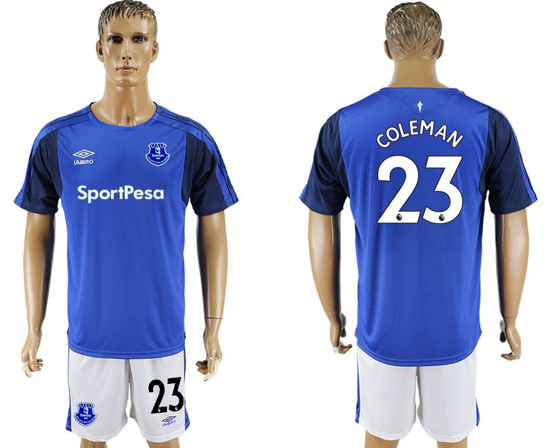 Men 2017-2018 club Everton FC home 23 blue soccer jersey
