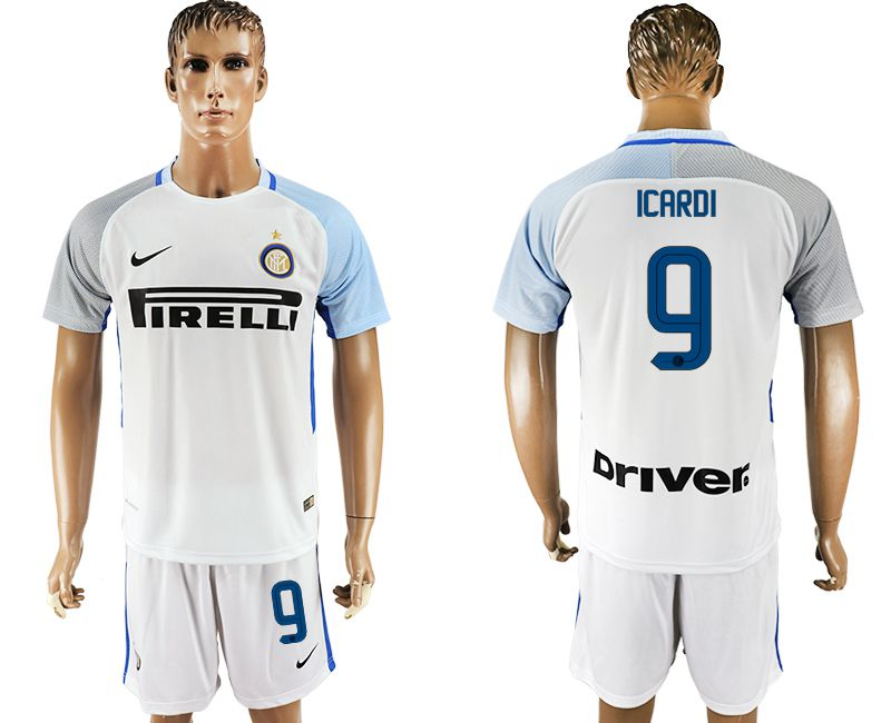 Men 2017-2018 club Inter milan away 9 white soccer jersey1