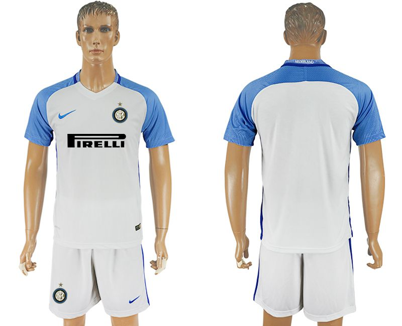 Men 2017-2018 club Inter milan away blank white soccer jersey