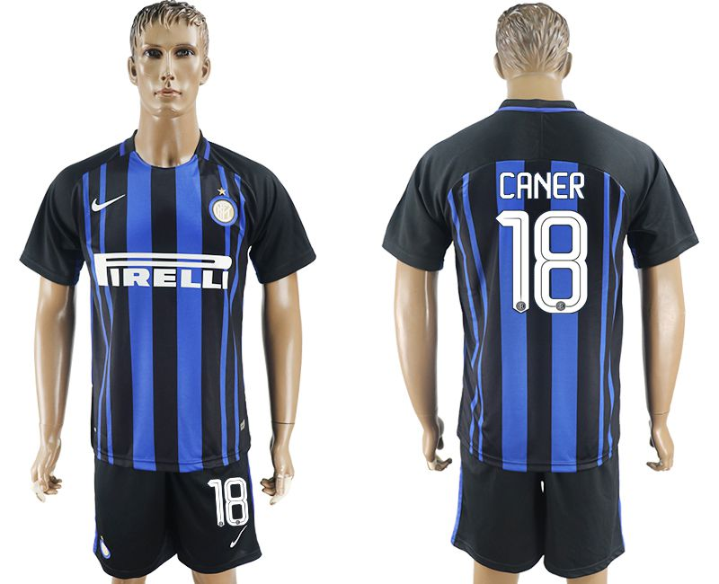 Men 2017-2018 club Inter milan home 18 blue soccer jersey