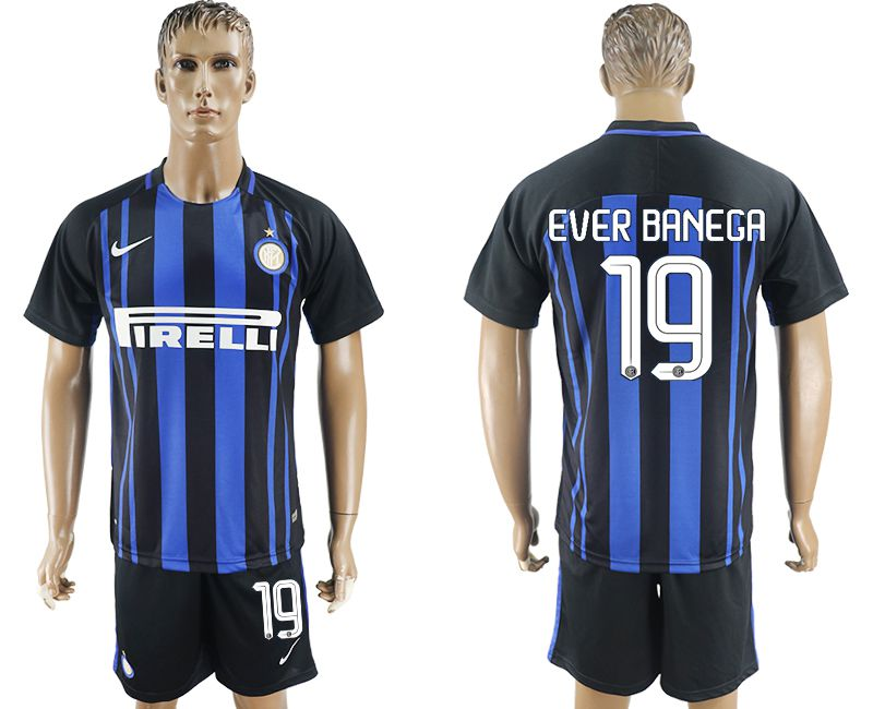 Men 2017-2018 club Inter milan home 19 blue soccer jersey