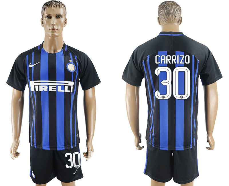 Men 2017-2018 club Inter milan home 30 blue soccer jersey