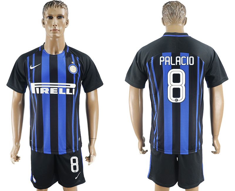 Men 2017-2018 club Inter milan home 8 blue soccer jersey