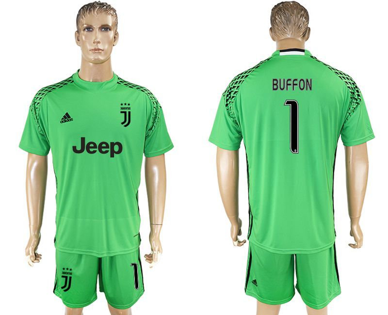 Men 2017-2018 club Juventus goalkeeper 1 green soccer jersey