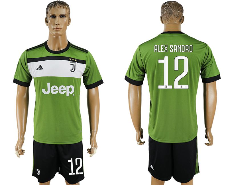 Men 2017-2018 club Juventus second away 12 green soccer jersey