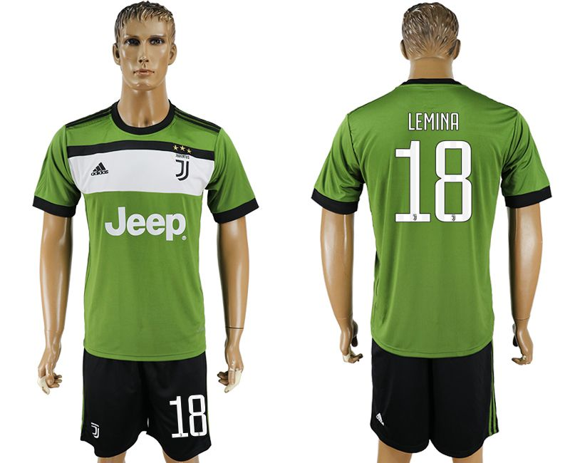 Men 2017-2018 club Juventus second away 18 green soccer jersey