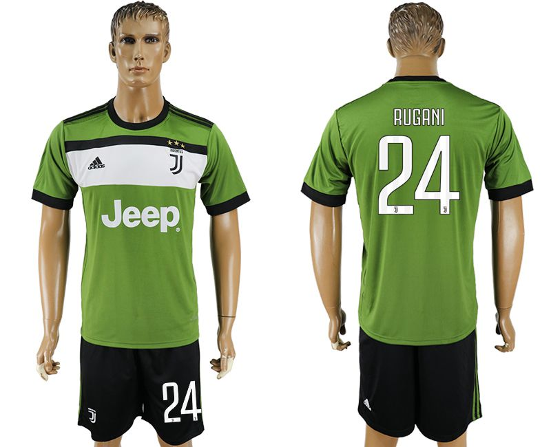 Men 2017-2018 club Juventus second away 24 green soccer jersey