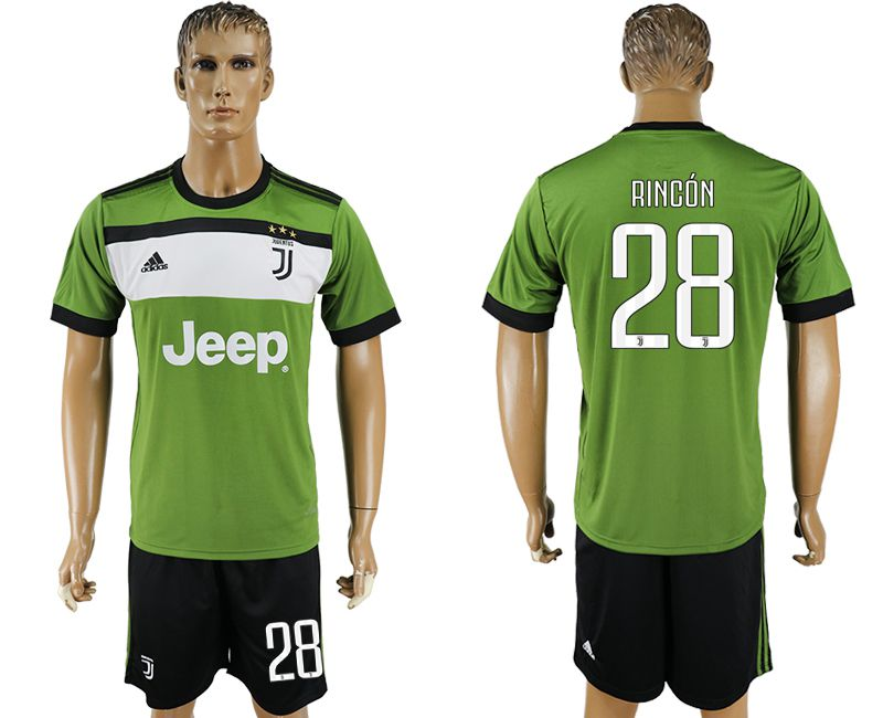 Men 2017-2018 club Juventus second away 28 green soccer jersey