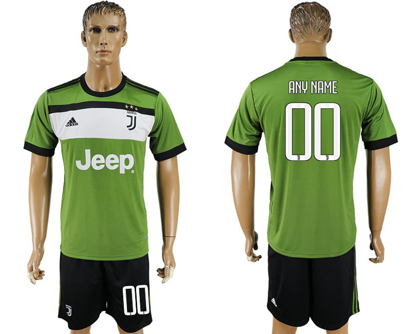 Men 2017-2018 club Juventus second away customized green soccer jersey