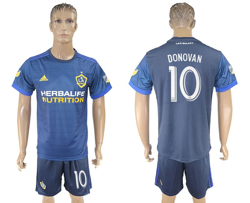 Men 2017-2018 club LA Galaxy away 10 blue soccer jersey