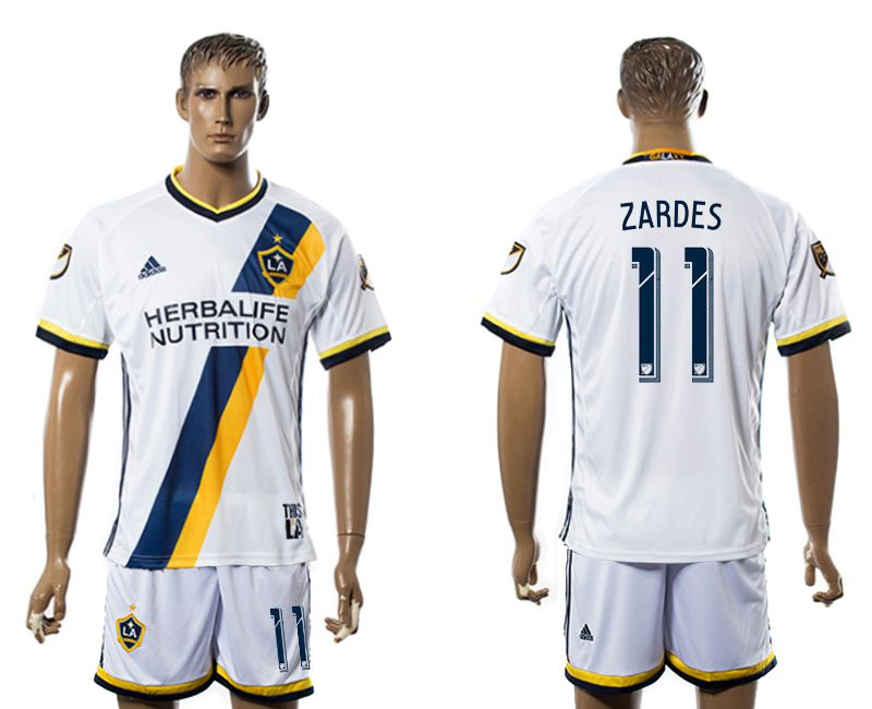 Men 2017-2018 club LA Galaxy home 11 white soccer jersey
