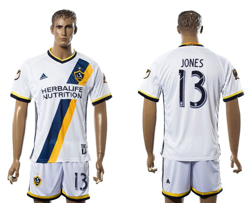 Men 2017-2018 club LA Galaxy home 13 white soccer jersey