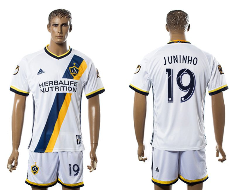 Men 2017-2018 club LA Galaxy home 19 white soccer jersey