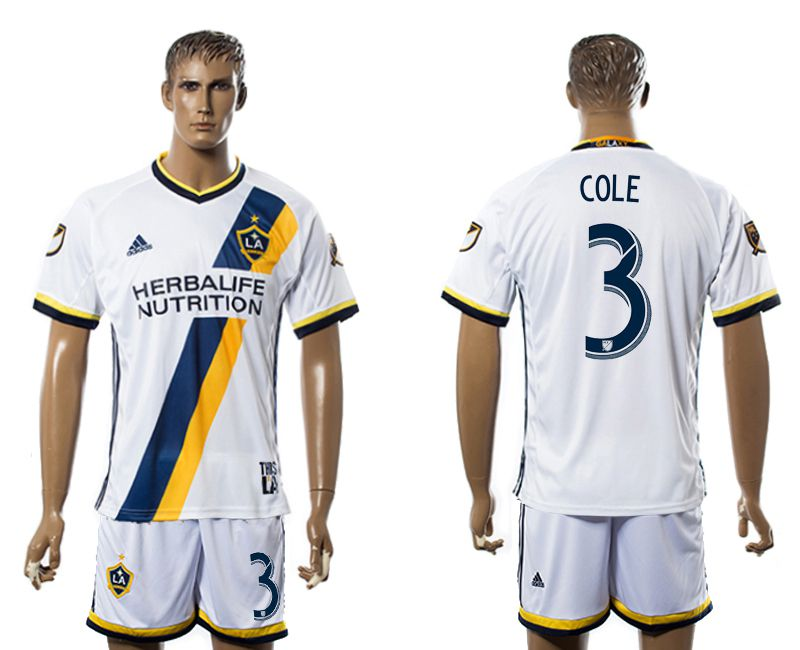 Men 2017-2018 club LA Galaxy home 3 white soccer jersey