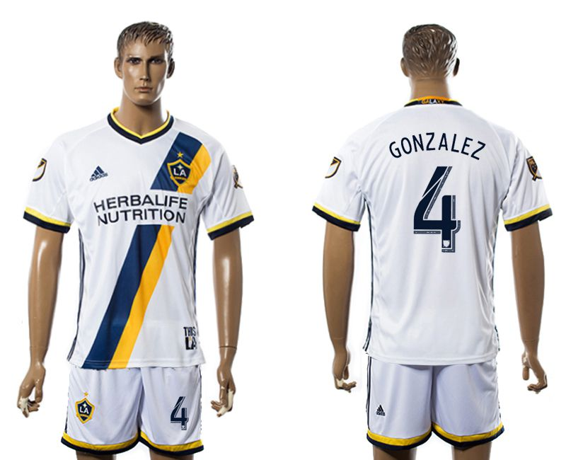 Men 2017-2018 club LA Galaxy home 4 white soccer jersey
